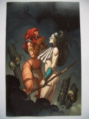 Savage Red Sonja #4 Frank Cho Virgin Incentive Variant
